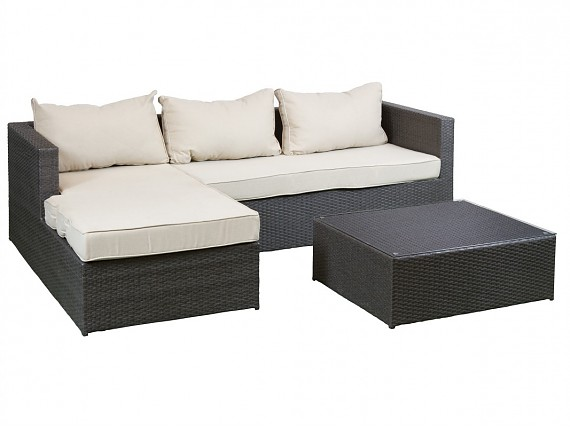 Muebles de rattan sintético para jardín, terraza o interior