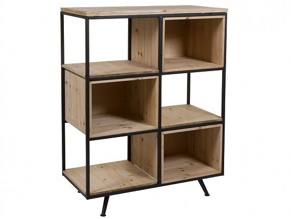 Estanter as de hierro y madera estilo industrial for Libreria estilo industrial
