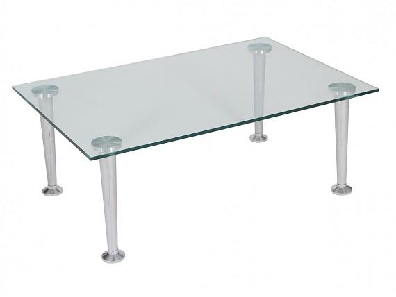 Mesa blanca lacada con patas cromadas muebles comedor for Mesa auxiliar esquinera