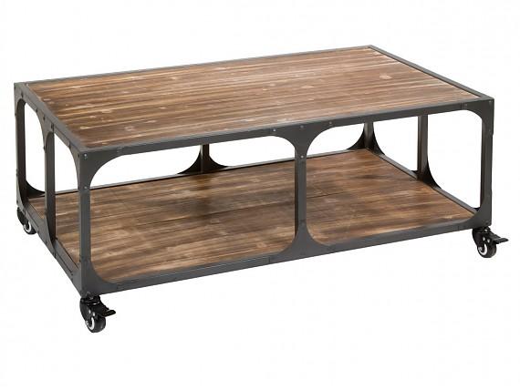 Mueble televisor estilo industrial de abeto con pies de metal - Mesa centro industrial ...
