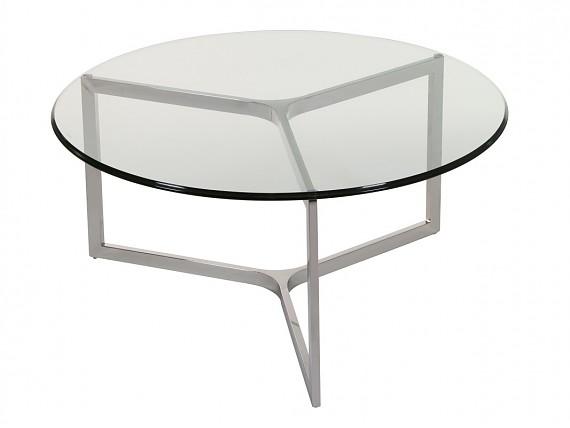 Mesa alargable grande de acero y cristal templado beige - Mesas redondas modernas ...