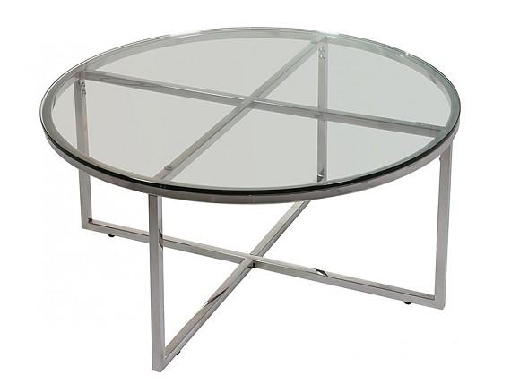 Mesas de centro modernas mesas ratonas modernas for Mesa redonda cristal 60