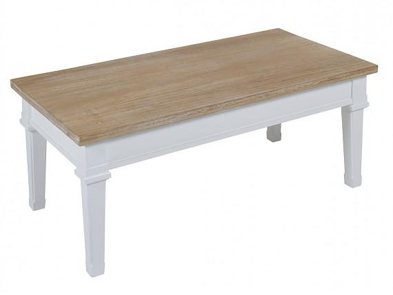 Muebles shabby chic blanco y roble de madera de paulowia