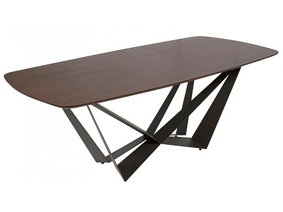 Mesa de comedor contempor nea de cristal y hierro mesas - Mesa comedor colonial ...