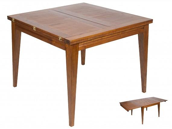 Mueble tv nogal de madera de mindi estilo colonial mesa for Mesa madera extensible