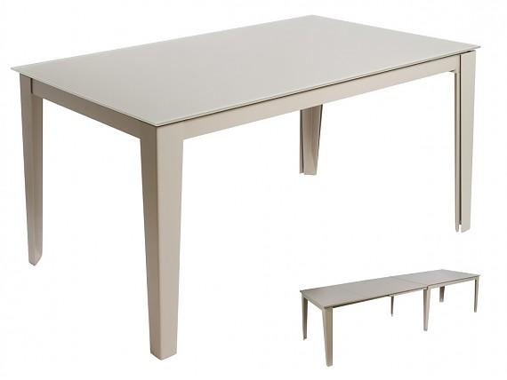 Mesa modernas cheap mesa vintage moderna negra lacada for Mesa extensible moderna