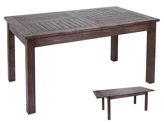 Comoda nogal rustica de madera con acabado envejecido - Comoda mesa extensible ...