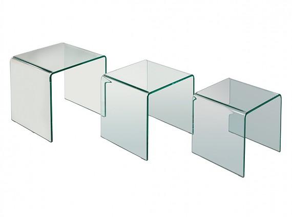 Mesas auxiliares sal n comprar mesa auxiliar para sal n - Mesas nido cristal ...