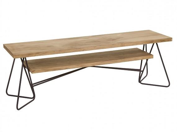 Mesa comedor hierro y madera estilo industrial - Patas de forja para mesas ...