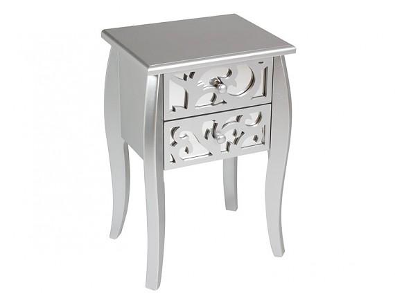 Mueble consola de espejo estilo cl sico muebles entrada for Mesitas de noche negras