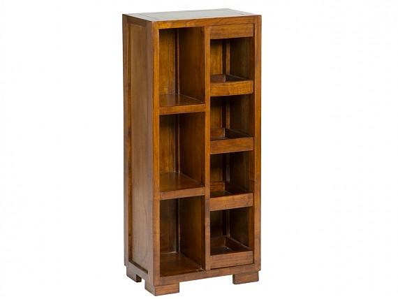Mueble librer a estrecha estilo colonial con 4 m dulos de for Estanteria madera maciza