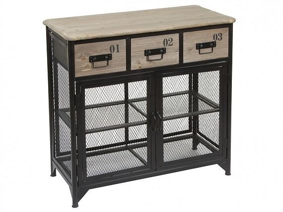 Canasto rat n sint tico color natural con coj n balancines - Muebles de hierro y madera ...