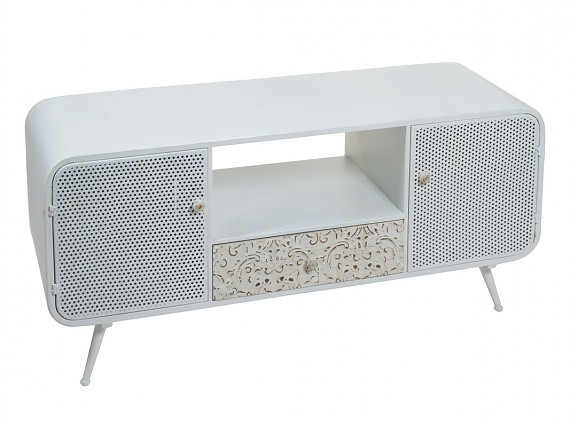 Mueble TV metal blanco Industrial Classic