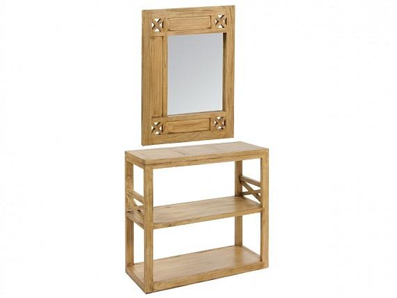 Mueble tv hierro y madera estilo industrial urbano - Mueble recibidor rustico ...
