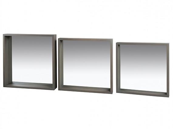 Espejos de madera espejo con marco de madera for Espejo madera envejecida