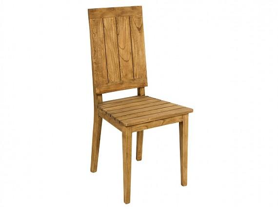 Mesa de noche r stica de madera de mindi color natural for Sillas de madera rusticas