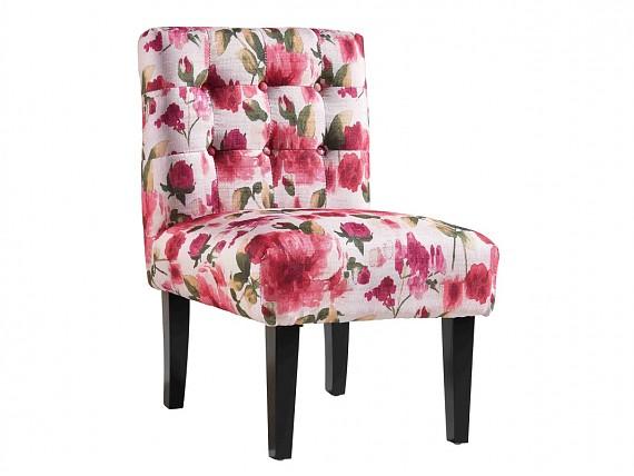 Sill n estampado de flores azul sillones originales for Sillones bonitos y baratos