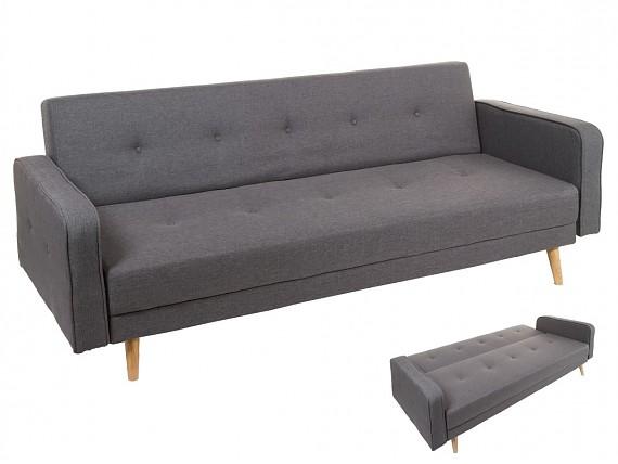 Banco baul de madera estilo r stico para pie de cama - Sofa cama estilo nordico ...