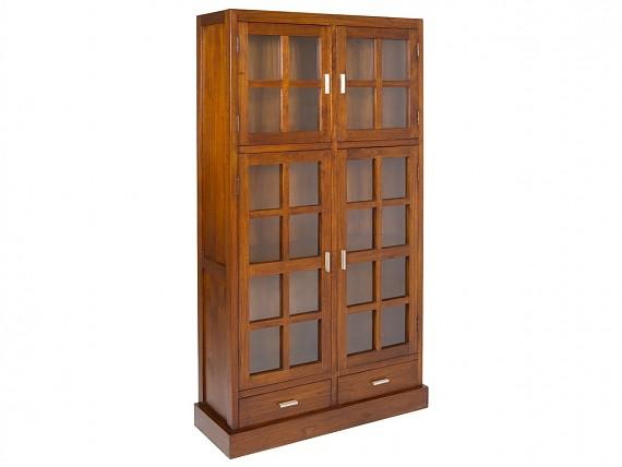 Mueble para tv madera y metal industrial con efecto envejecido - Alacena de madera ...