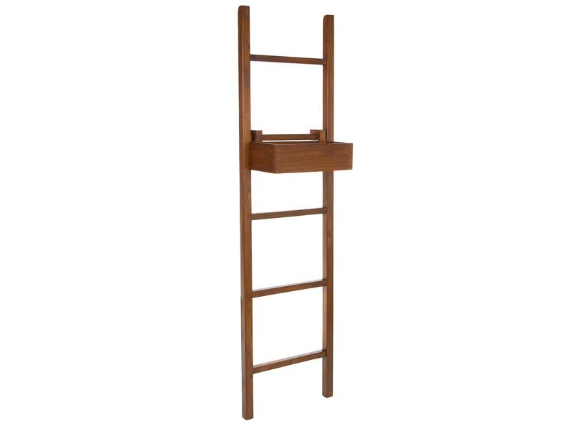 Toallero escalera de madera con estante para cuarto de ba o for Estante porta toallas para bano
