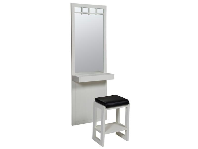 Tocador con espejo de madera de color blanco roto - Tocadores con espejo ...