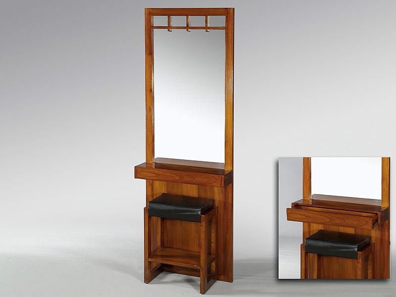 Tocador para dormitorio con espejo y taburete tocadores for Espejos grandes para dormitorios