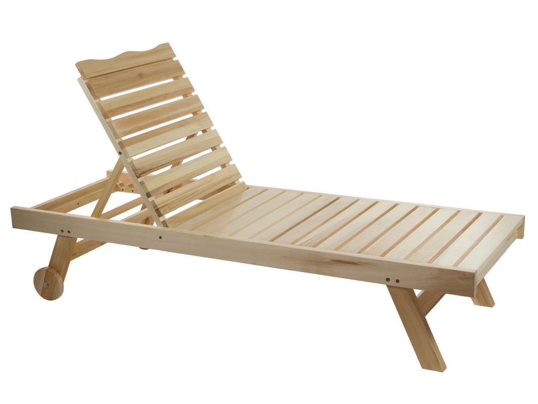 Tumbona con ruedas madera álamo para terraza y jardín - ohcielos.com