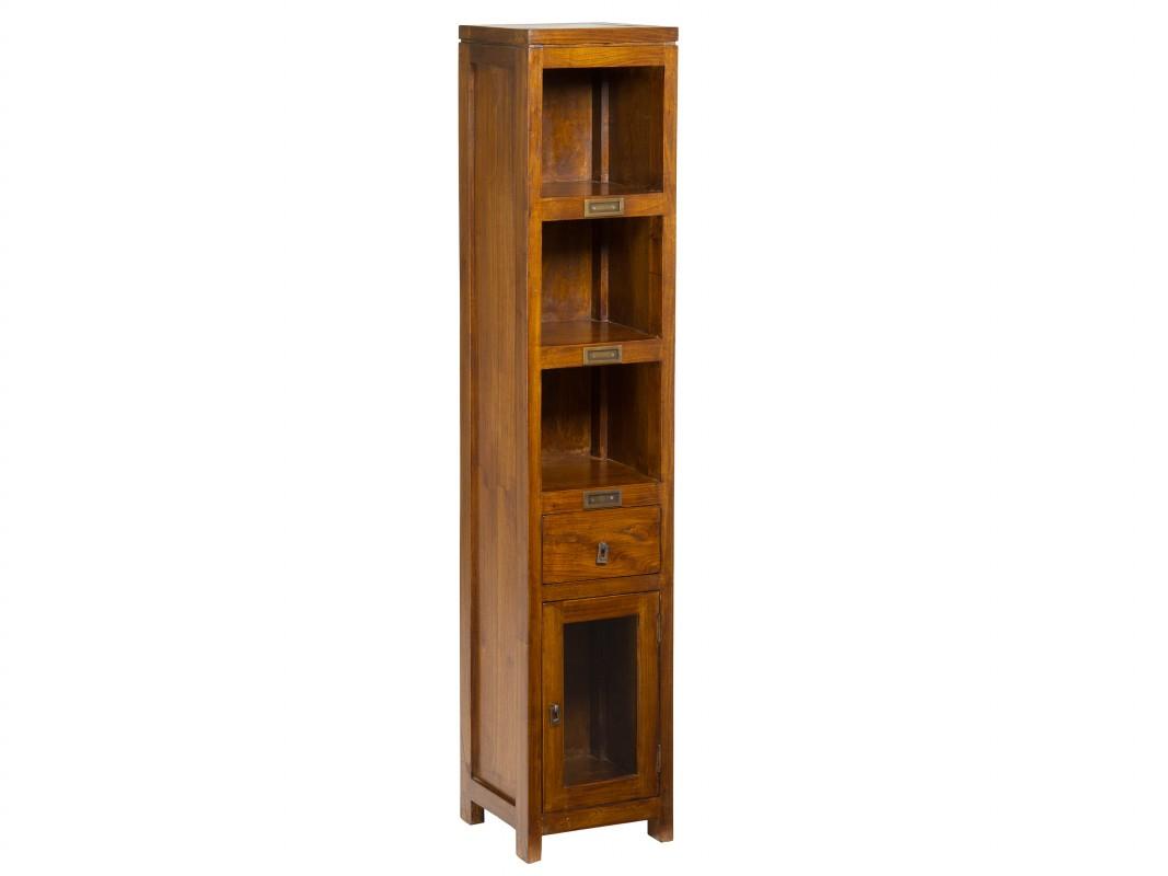 Estanter a muy estrecha de madera estilo colonial - Estanterias madera ...