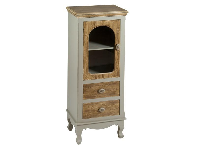 Vitrina peque a de madera estilo vintage decoraci n - Vitrinas pequenas ...