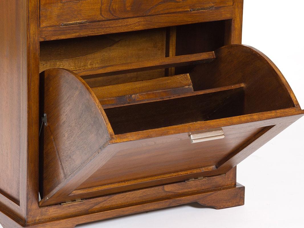 Mueble zapatero 2 puertas de madera cat logo zapateros for Mueble para zapatos madera