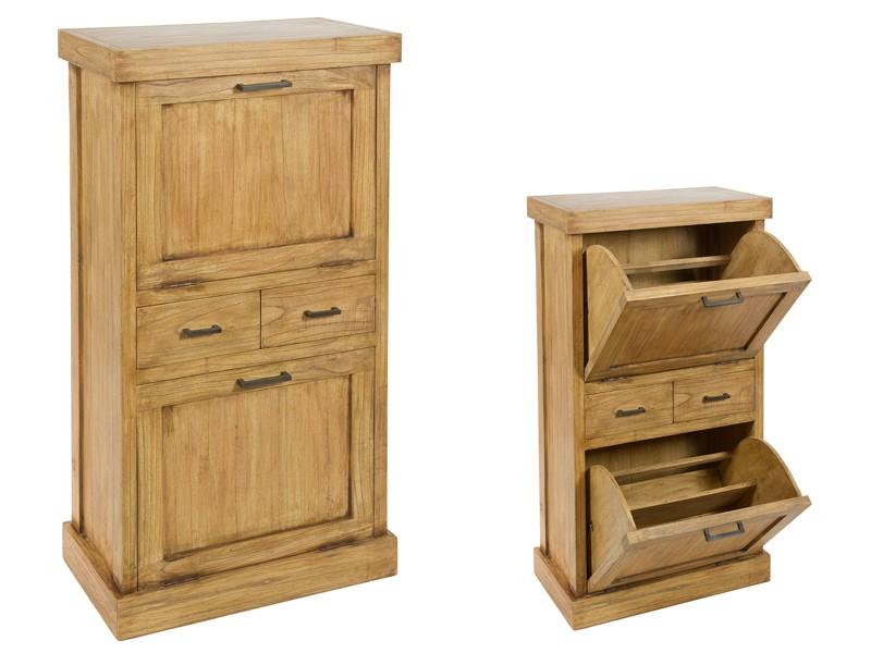 zapatero color roble de madera de acacia estilo r stico