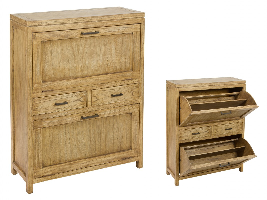mueble para zapatos de madera estilo r stico zapateros