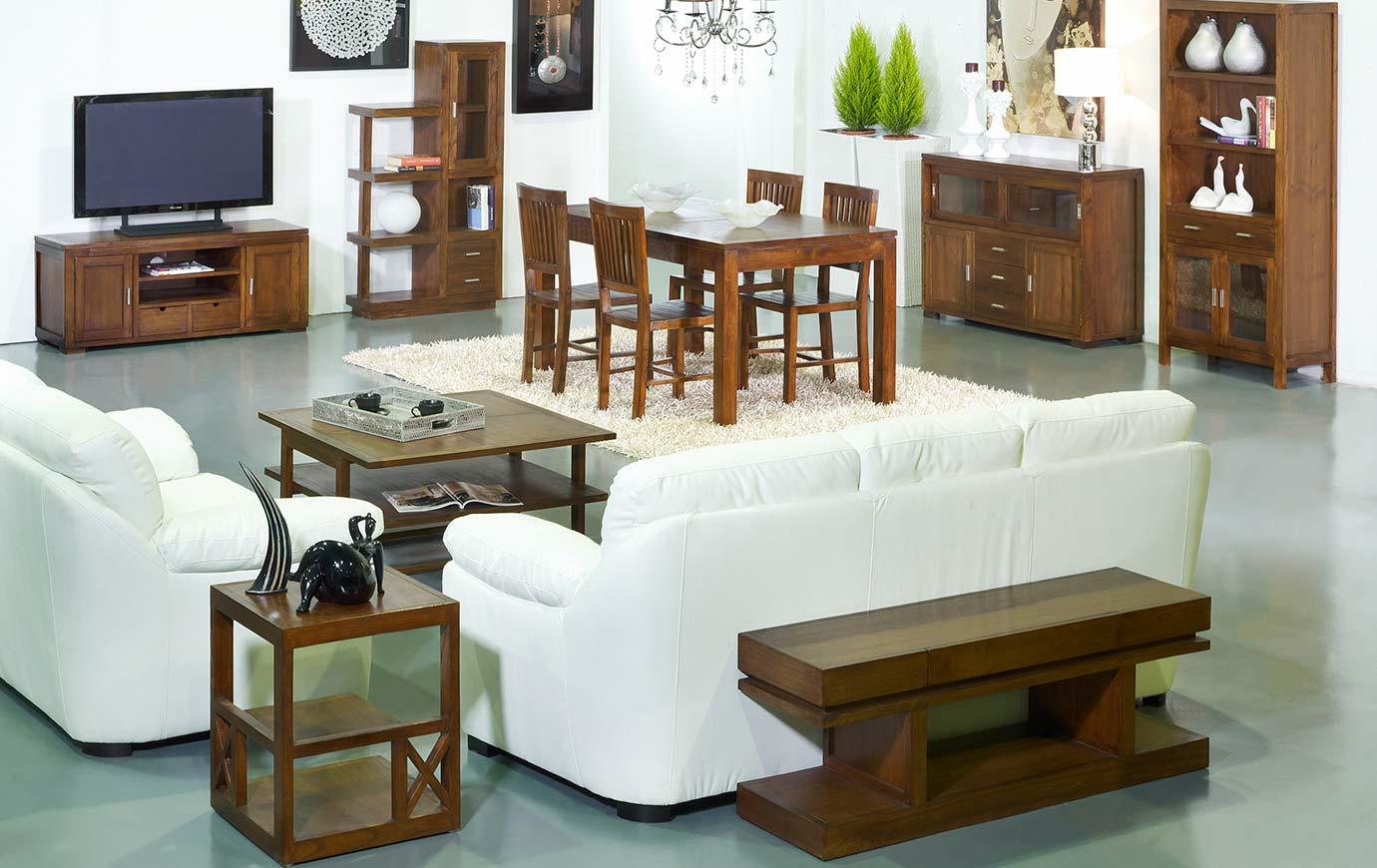 Muebles coloniales contemporáneos madera nogal - Colección ...